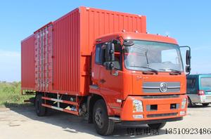 东风商用车 天锦中卡 180马力 4X2 7.7米排半厢式载货车